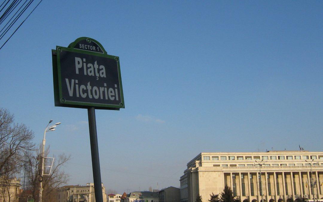 Plimbare prin Piața Victoriei